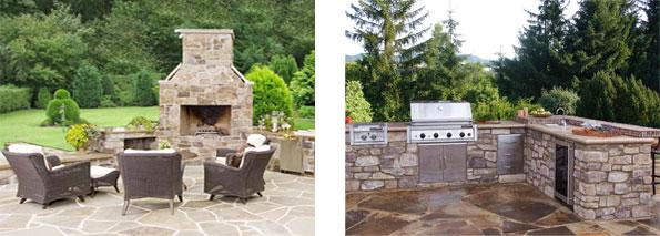 die natursteinprofis - steinmetzbetrieb schaaf elmstein - außenküchen - Aussen Küche
